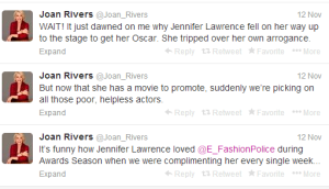 Joan Rivers twitter