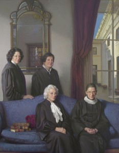 Sandra Day O'Conner, Sonia Sotomayor, Ruth Bader Ginsburg, and Elena Kagan